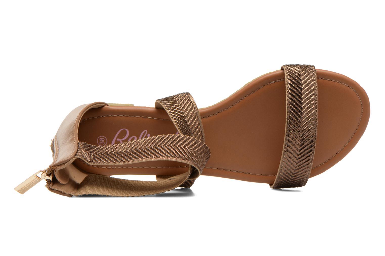 Sandales et nu-pieds Refresh Ballade 61831 Or et bronze vue gauche