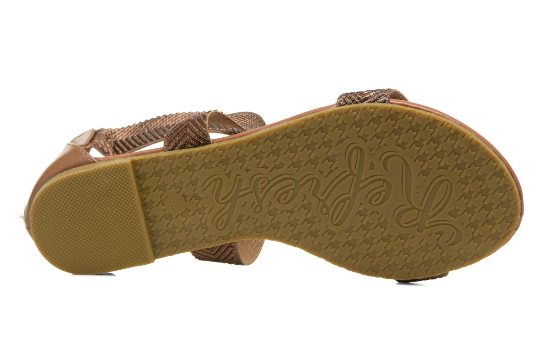 Sandales et nu-pieds Refresh Ballade 61831 Or et bronze vue haut