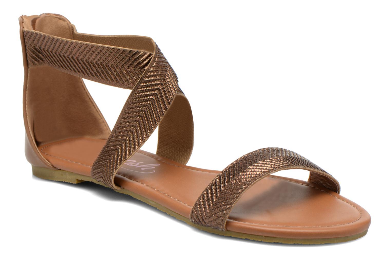 Sandales et nu-pieds Refresh Ballade 61831 Or et bronze vue détail/paire