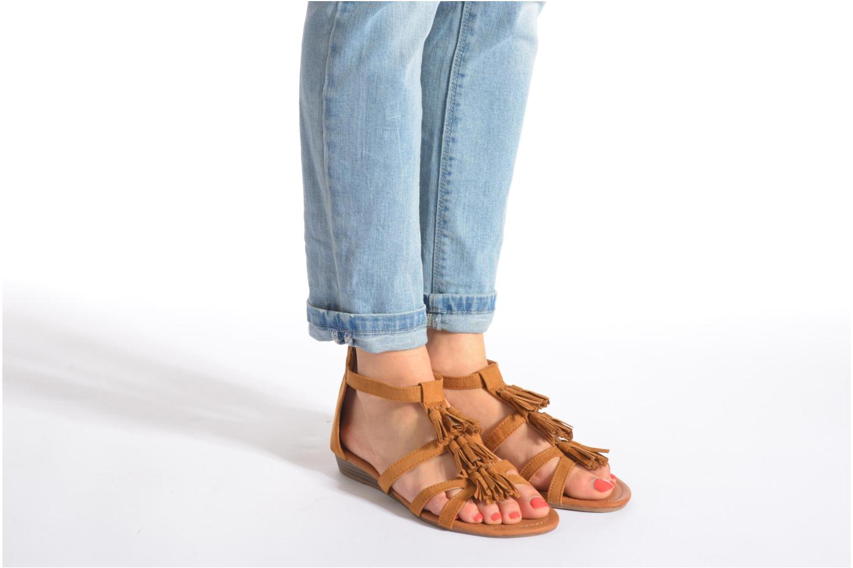 Sandales et nu-pieds Refresh Festival 61859 Marron vue bas / vue portée sac