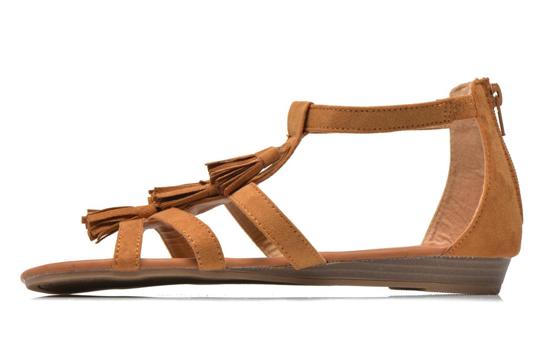Sandales et nu-pieds Refresh Festival 61859 Marron vue face