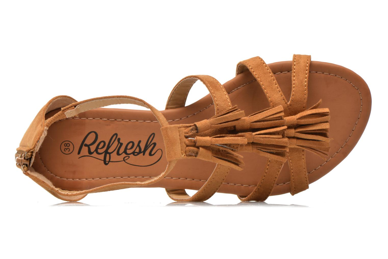 Sandales et nu-pieds Refresh Festival 61859 Marron vue gauche