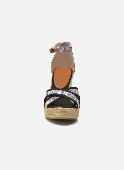 Sandales et nu-pieds Refresh Papaye 61717 Noir vue portées chaussures