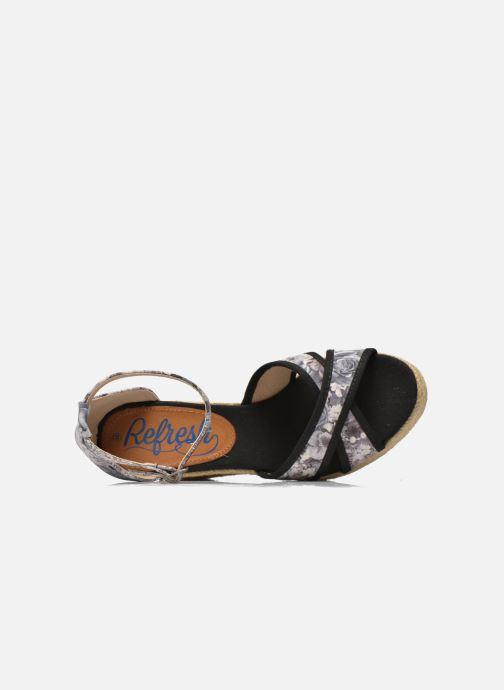 Sandalias Refresh Papaye 61717 Negro vista lateral izquierda