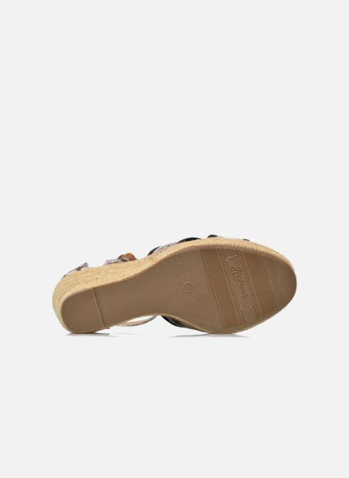 Sandalen Refresh Papaye 61717 schwarz ansicht von oben