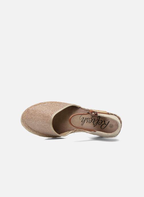 Sandales et nu-pieds Refresh Gipsy 62034 Or et bronze vue gauche