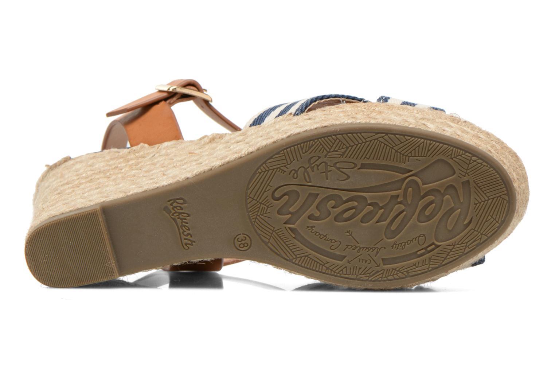 Sandales et nu-pieds Refresh Marin 62088 Bleu vue haut