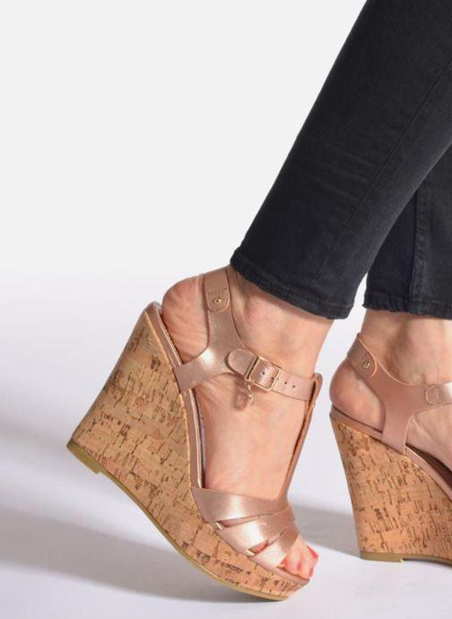 Sandales et nu-pieds Refresh Jungle 61823 Or et bronze vue bas / vue portée sac