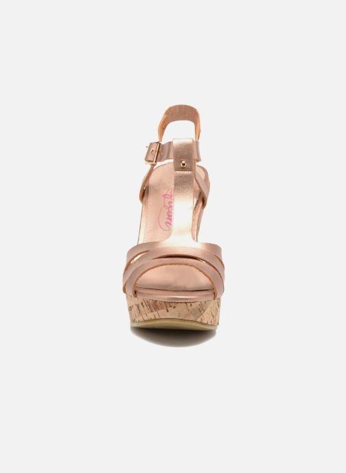 Sandales et nu-pieds Refresh Jungle 61823 Or et bronze vue portées chaussures