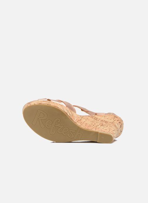 Sandales et nu-pieds Refresh Jungle 61823 Or et bronze vue haut