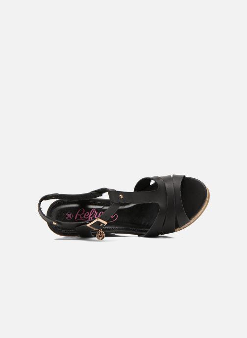 Sandales et nu-pieds Refresh Jungle 61823 Noir vue gauche