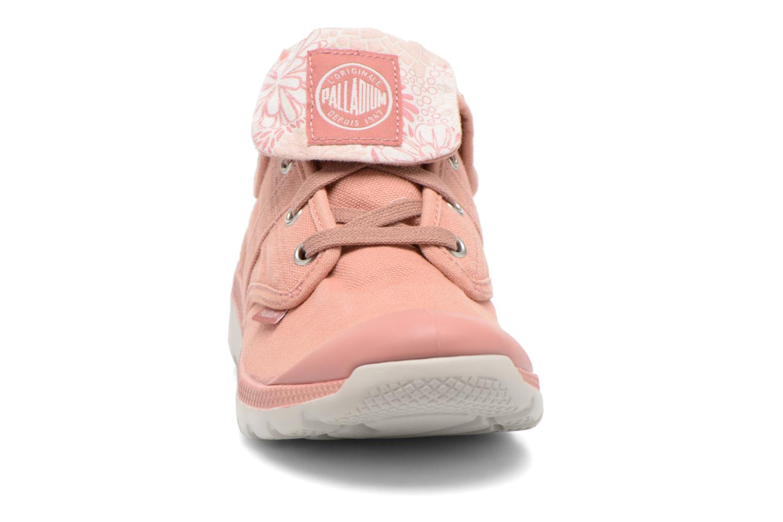 Baskets Palladium Pallaville Baggy CVS Rose vue portées chaussures