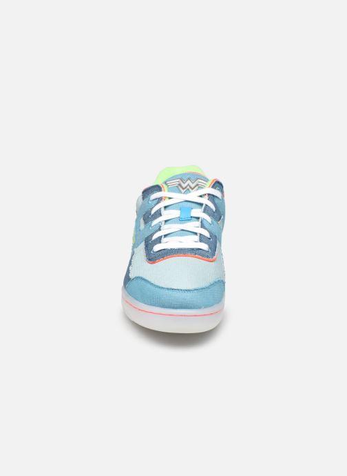 Sneaker Reebok Workout Plus W blau schuhe getragen