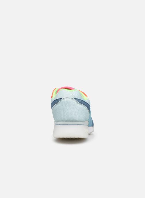 Sneaker Reebok Workout Plus W blau ansicht von rechts