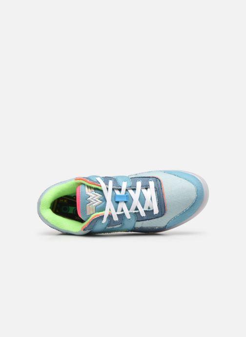 Sneaker Reebok Workout Plus W blau ansicht von links