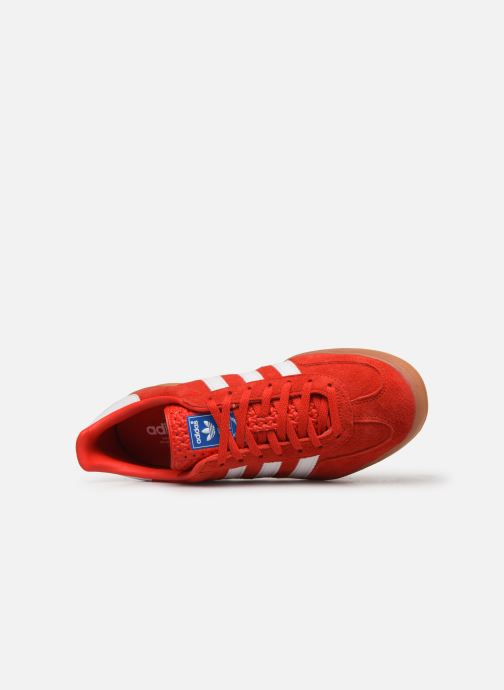 Baskets adidas originals Gazelle Indoor Rouge vue gauche