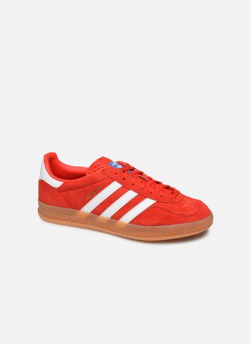 Baskets adidas originals Gazelle Indoor Rouge vue détail/paire