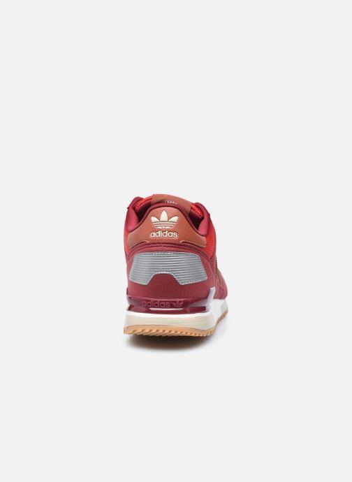 Sneaker adidas originals ZX 700 M weinrot ansicht von rechts