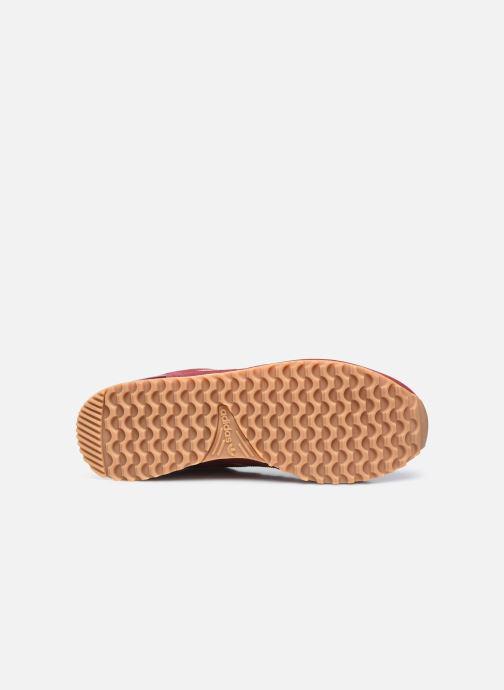 Sneaker adidas originals ZX 700 M weinrot ansicht von oben