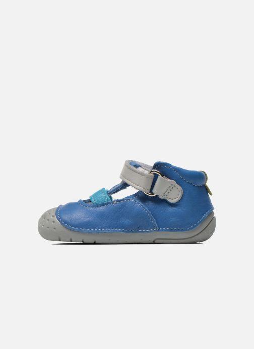 Pantuflas Babybotte Zefir Azul vista de frente