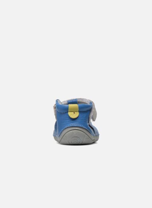 Hausschuhe Babybotte Zefir blau ansicht von rechts