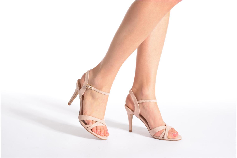 Sandales et nu-pieds Buffalo Ydi Beige vue bas / vue portée sac