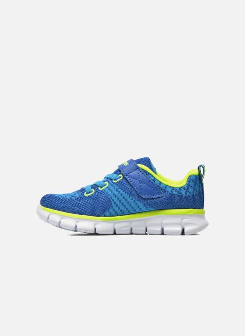 Sneakers Skechers Synergy - Mini Knit Azzurro immagine frontale