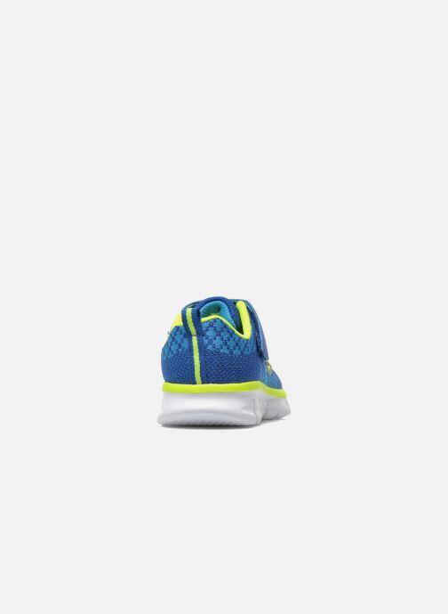 Deportivas Skechers Synergy - Mini Knit Azul vista lateral derecha