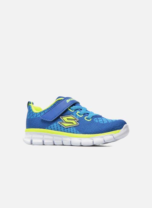 Sneakers Skechers Synergy - Mini Knit Azzurro immagine posteriore