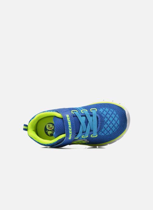 Deportivas Skechers Synergy - Mini Knit Azul vista lateral izquierda