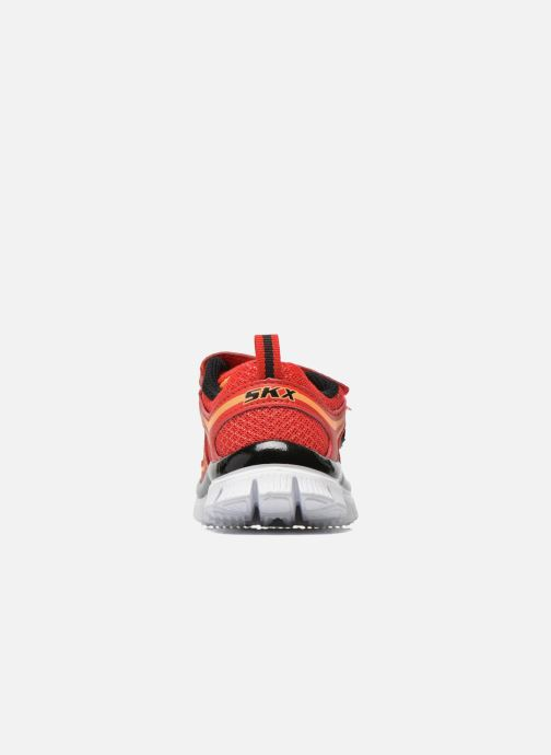Trainers Skechers Flex Advantage-Mini Rush Red view from the right
