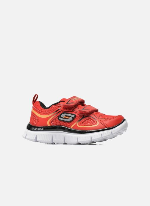 Trainers Skechers Flex Advantage-Mini Rush Red back view