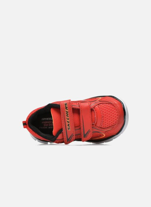 Trainers Skechers Flex Advantage-Mini Rush Red view from the left