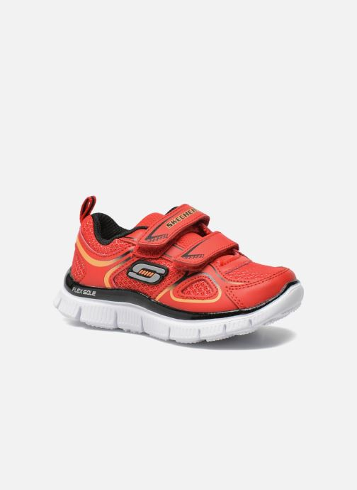 Trainers Skechers Flex Advantage-Mini Rush Red detailed view/ Pair view
