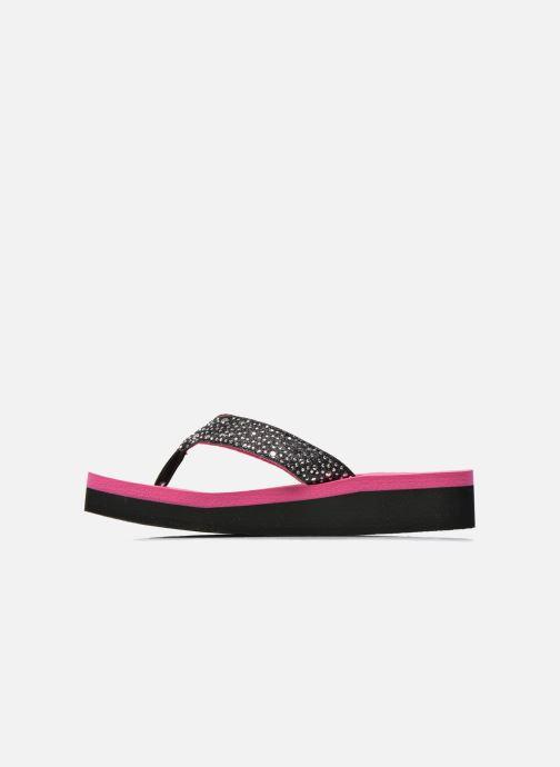 Tongs Skechers Glitter & Rhinestudded Sandal Noir vue face