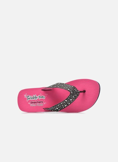 Tongs Skechers Glitter & Rhinestudded Sandal Noir vue gauche