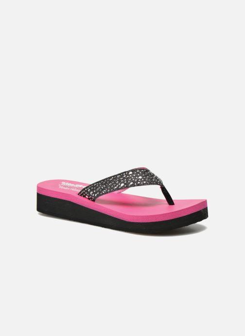 Flip flops & klipklapper Skechers Glitter & Rhinestudded Sandal Sort detaljeret billede af skoene