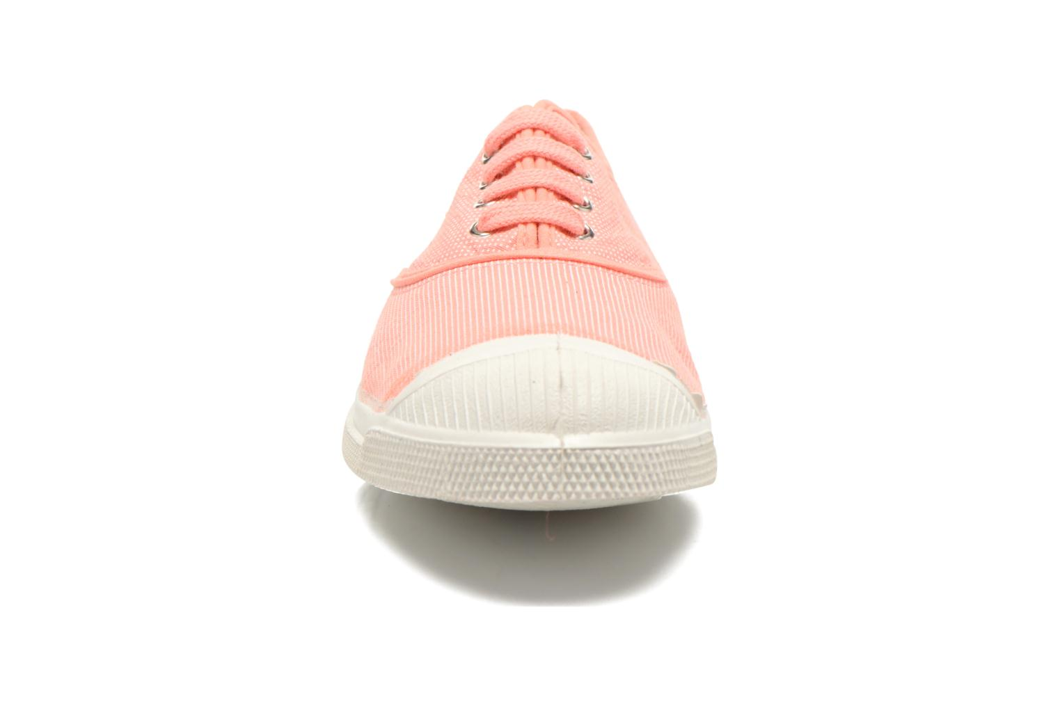 Sneakers Bensimon Tennis Mixprint Rosa modello indossato