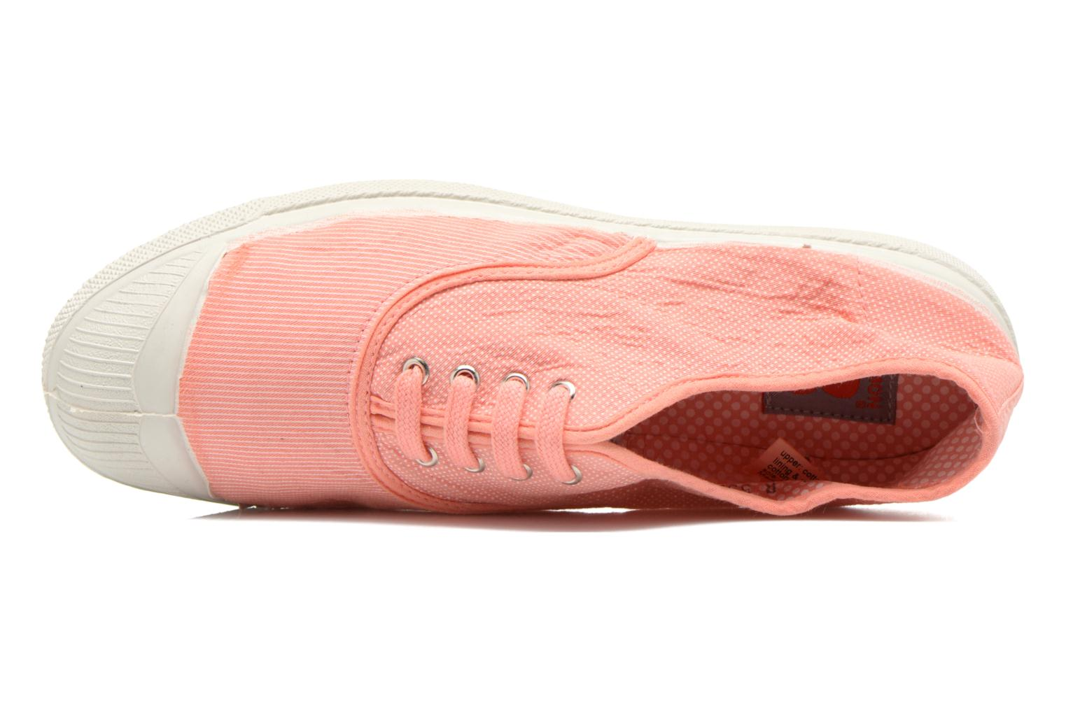 Trainers Bensimon Tennis Mixprint Pink view from the left