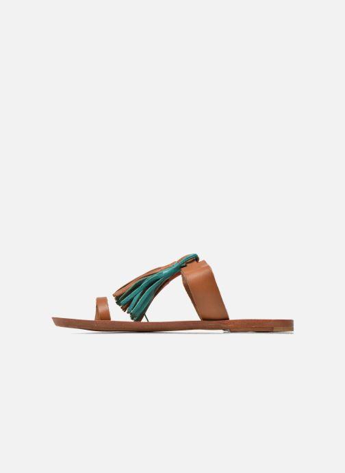 Zuecos Bensimon Sandale Pompon Multicolor vista de frente