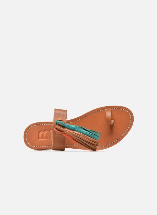 Orange Sandale Bensimon Pompon Sandale Bensimon Pompon Kaki roCedxWB