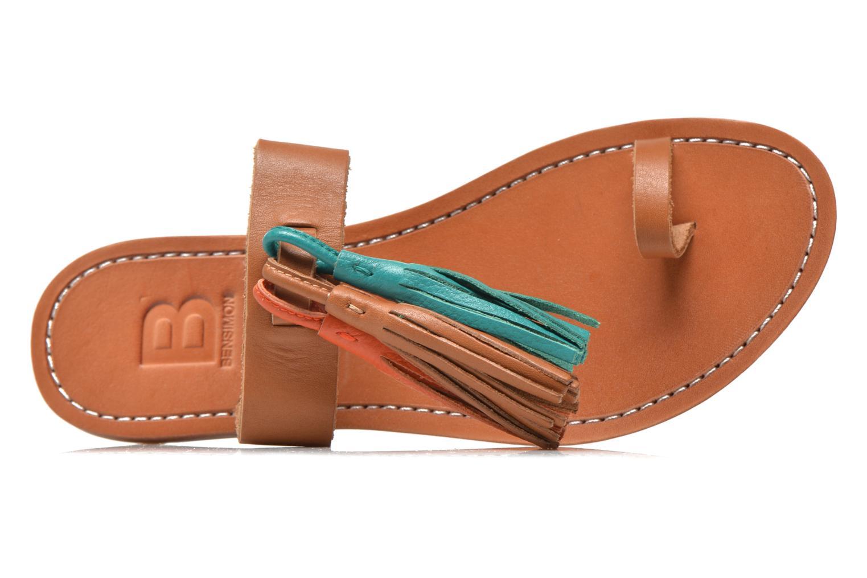 Mules et sabots Bensimon Sandale Pompon Multicolore vue gauche