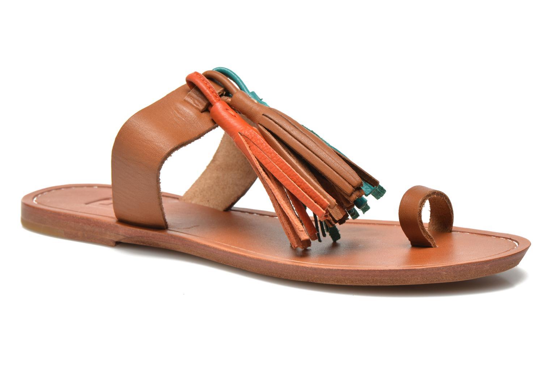 Mules et sabots Bensimon Sandale Pompon Multicolore vue détail/paire