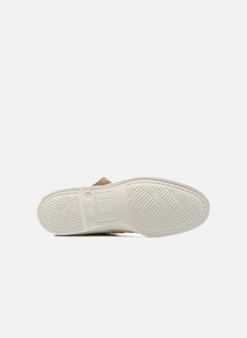 Trainers Bensimon Tennis Indian Fringes Beige view from above