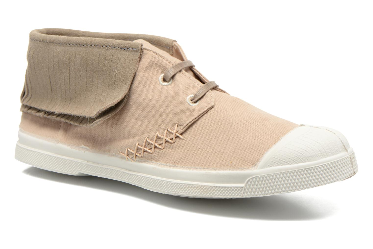 Trainers Bensimon Tennis Indian Fringes Beige detailed view/ Pair view