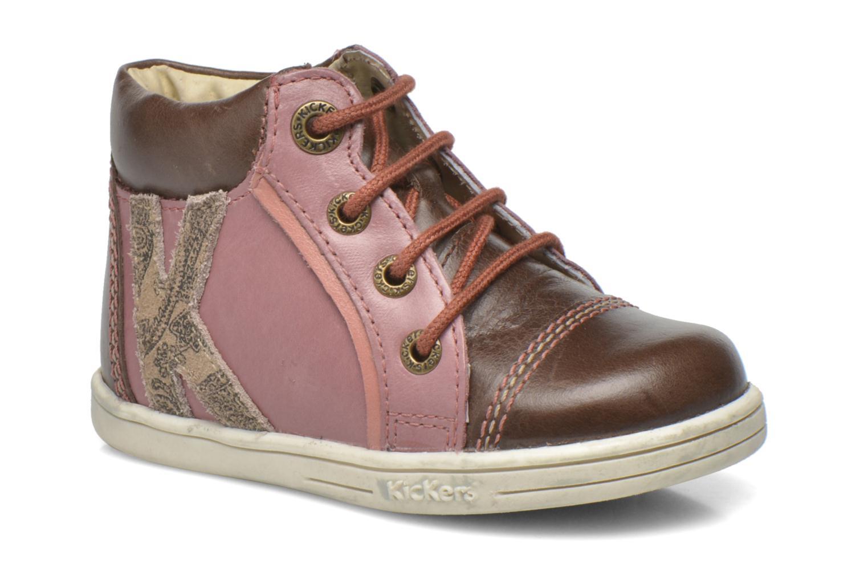 Bottines et boots Kickers Tralala Marron vue détail/paire