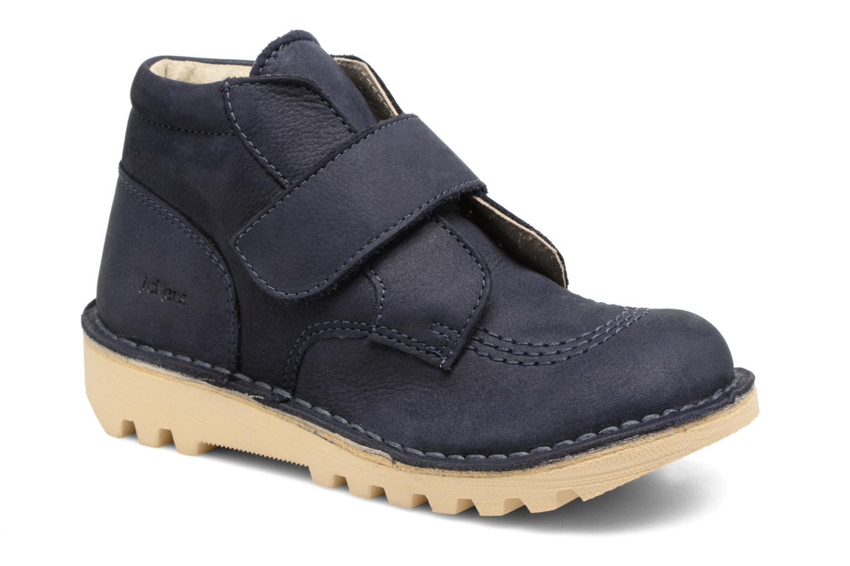Sko med velcro Kickers Neokrafty Blå detaljeret billede af skoene