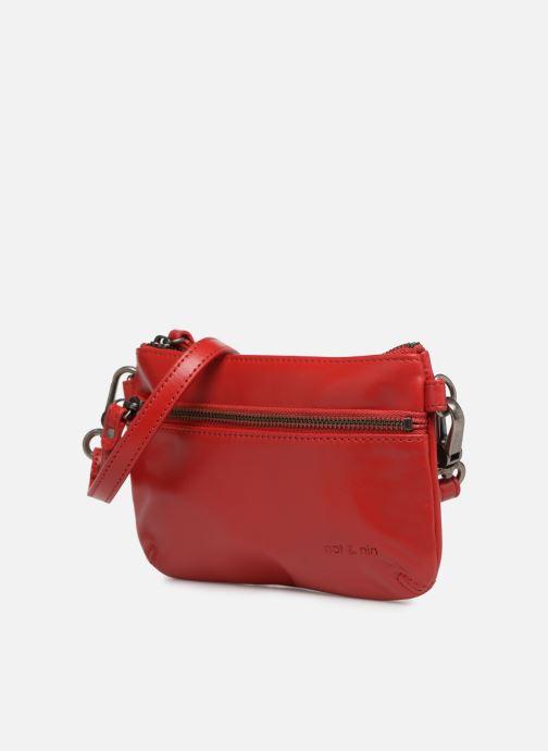 Sacs pochettes Nat & Nin Vicky2 Rouge vue portées chaussures