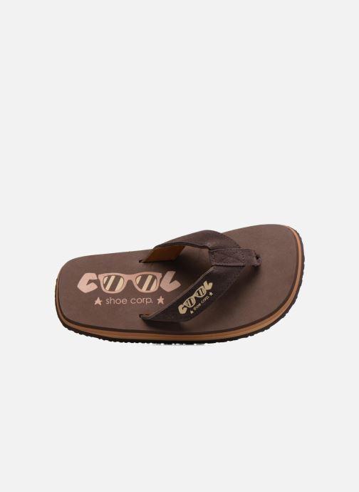 Tongs Cool Shoe Original Marron vue gauche