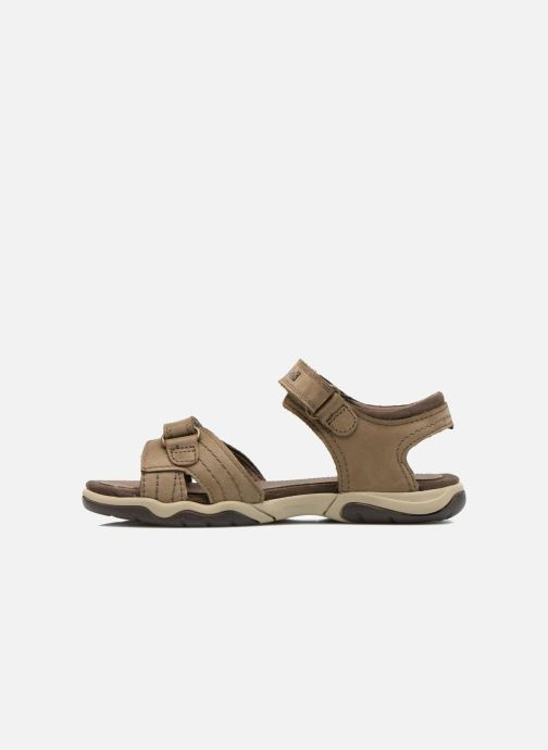 Sandali e scarpe aperte Timberland Oak Bluffs Leather 2Strap Marrone immagine frontale